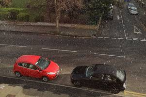 kent weather: live updates as first snow of 2020 falls in thanet