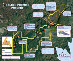 great atlantic summarizes diamond drilling results - golden promise gold property - central newfoundland
