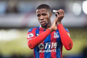 andros townsend delivers wilfried zaha transfer message to alert arsenal and chelsea