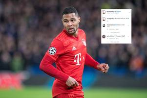 arsenal's hector bellerin trolls chelsea defeat with four-word instagram message to serge gnabry