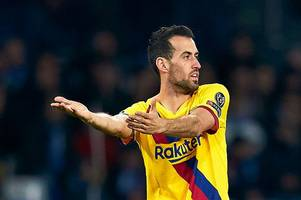 Sergio Busquets hits out at Barcelona chiefs over squad depth ahead of El Clasico