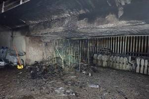 images of charred road shows why m32 bridge remains closed days after blaze in tesco yard