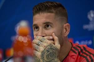 sergio ramos has now been sent off 26 times in his career after red card ...