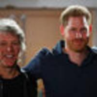 Prince Harry heads to recording studio with Jon Bon Jovi for Invictus Games single