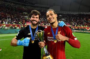 virgil van dijk and alisson named as liverpool's only two 'irreplaceable' players