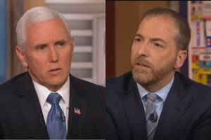 chuck todd hammers mike pence: it feels like team trump is 'gaslighting' american public (video)