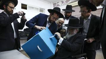 israeli voters hit polls for third election in under a year