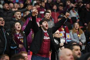 the incredible scenes as aston villa fans boss wembley clash with man city