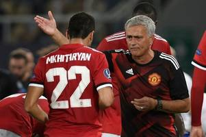 henrikh mkhitaryan lifts lid on time jose mourinho confronted him at breakfast at man utd