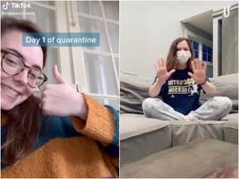 tiktokers are filming themselves while in quarantine for the coronavirus — here are some of the best videos