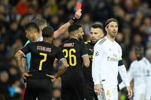 sergio ramos provides man city red card update ahead of champions league second leg
