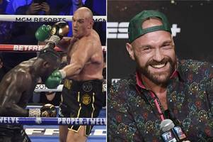 tyson fury prank before deontay wilder rematch emerges after he 'faked' injury