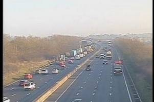 live updates as crash on m5, a417 maisemore re-opens and traffic latest in gloucestershire, forecasts from met office