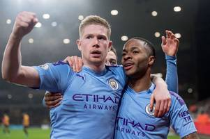 man city on brink of opening kevin de bruyne and raheem sterling new contract talks