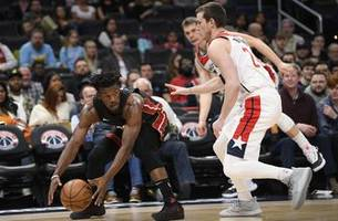 after butler leaves, adebayo lifts heat over wizards 100-89