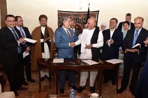 Each of Afghanistan's two dueling leaders declares himself president