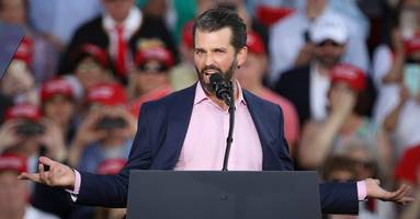don jr. diagnoses biden with alzheimer's for heated spat with voter over gun rights