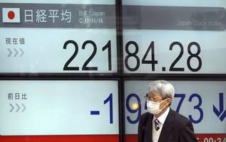 japanese shares tumble, nikkei below break-even level for boj