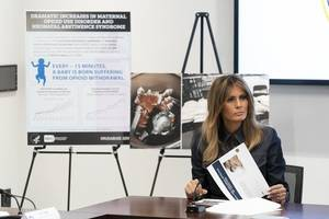 melania trump tells parents and teachers that the internet can be 'destructive and dangerous' if used for bullying
