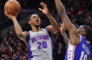 season on hold after pistons lose to sixers 124-106