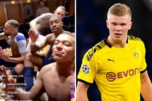 erling haaland zen celebration mocked by psg players in champions league loss