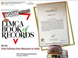 welcome group graduate school of hotel management (wagsha) of manipal academy of higher education enters limca book of records for its indiaapos;s first living culinary arts museum at wgsha