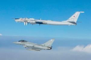 raf fighter jets scrambled to intercept russian bomber off scots coast