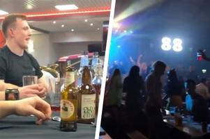 the very different friday night the wales rugby team had after today's six nations game was called off