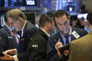 stocks bounce up and down after worst drop since 1987