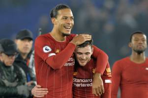 virgil van dijk destroys liverpool team-mate andy robertson during q&a session