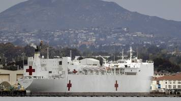 navy hospital ships won't be ready to respond to coronavirus for weeks