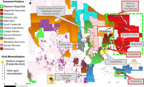 Mawson Announces Execution of Agreements for Central Victorian Goldfields Investment and Acquisition in Australia