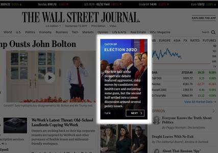 """just catch me up, quick"": how the wall street journal is trying to reach non-news junkies"