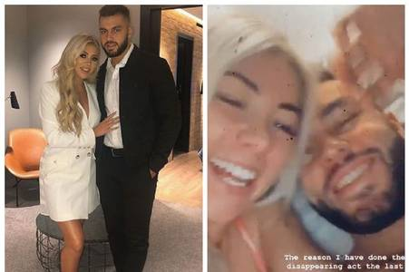 love island's finn drives to scotland to self-isolate with paige