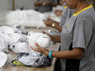 A massive stockpile of 39 million N95 masks is being sold to American hospitals — around 27 million more than the US government's emergency stockpile