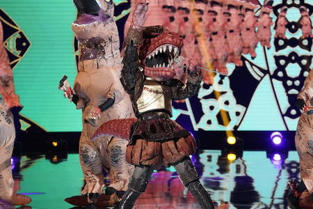 t-rex tells us about being first-ever 'masked singer' contestant of her kind