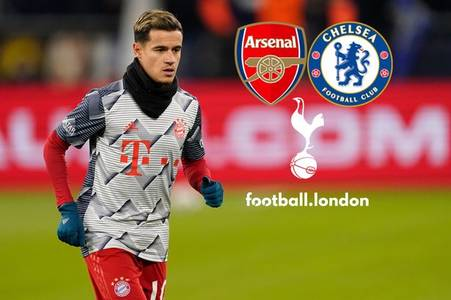 Coutinho linked with Chelsea and Arsenal after Spurs pull out