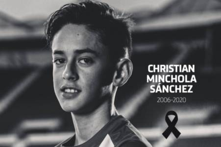 Atletico Madrid youth dead at 14 as club mourn loss of Christian Minchola