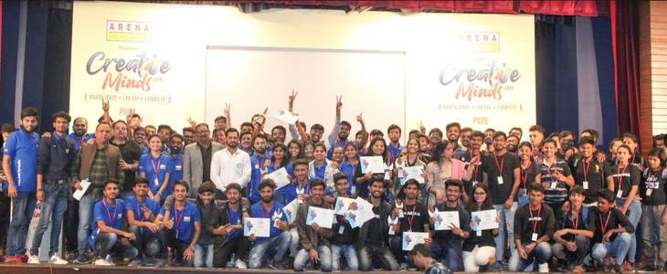 arena animation 'creative minds 2019-2020' successfully concluded its multi-city tour witnessing talent from 7376 students, pan india