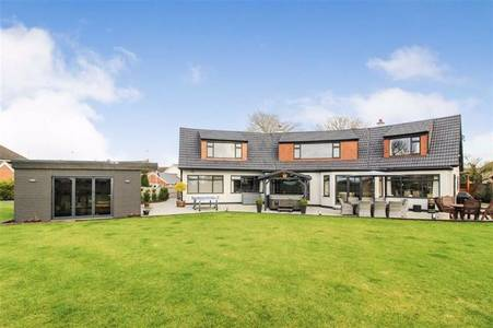 inside the stunning home with dressing room and party house