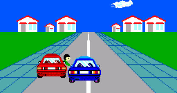 sega made a traffic safety game in 1988, and collectors now have it