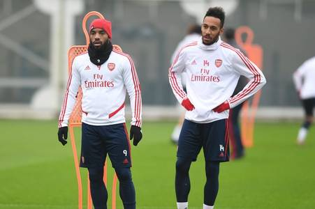 aubameyang shares brilliant message with lacazette