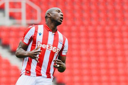stoke striker benik afobe shares post of himself keeping fit