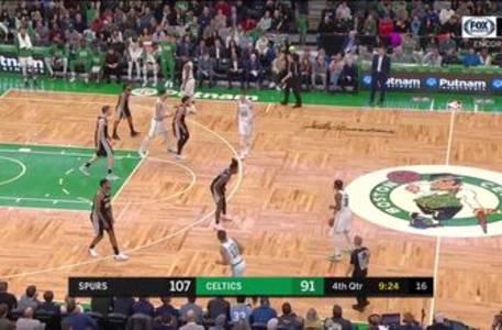 WATCH: Unbelievable pass from Jakob against the Celtics | Spurs ENCORE