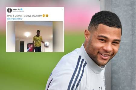 arsenal fans excited by mesut ozil's response to serge gnabry