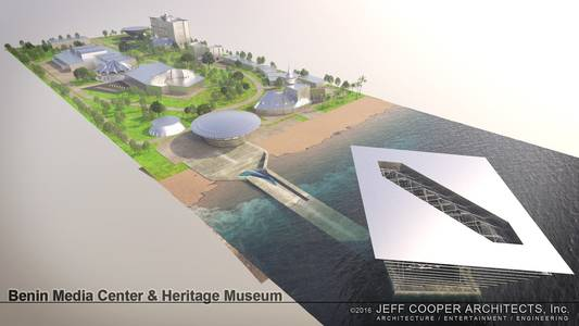 proposed benin media campus & museum of african culture & slavery, benin, west africa