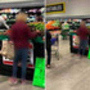 covid-19 coronavirus: woman spotted at pak'n save with 2m tape measure for social distancing