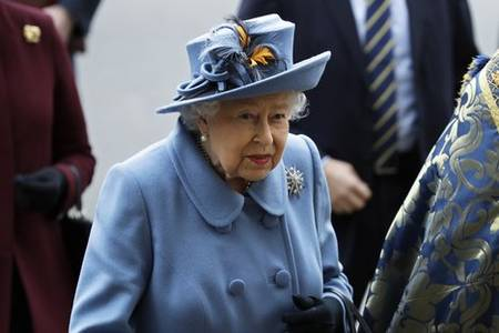 'we will succeed': queen makes rare public speech in response to covid-19 pandemic