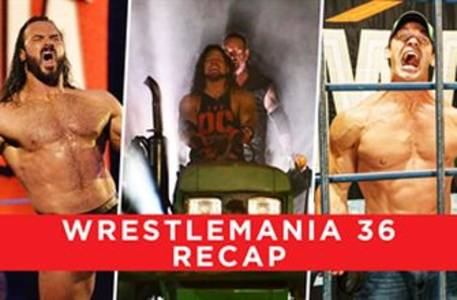 All the SHOCKING results from WrestleMania 36: WWE Now India