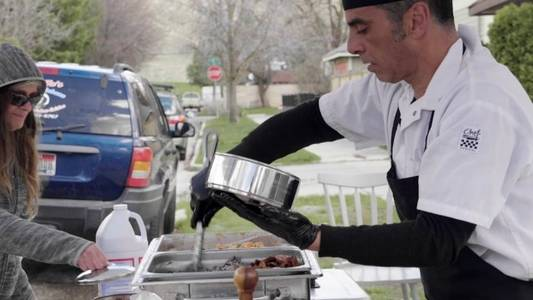 life has changed: idaho chef sells food curbside to stay in business
